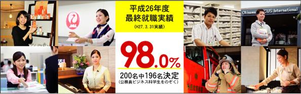 平成26年度最終就職実績! 98.0%達成!